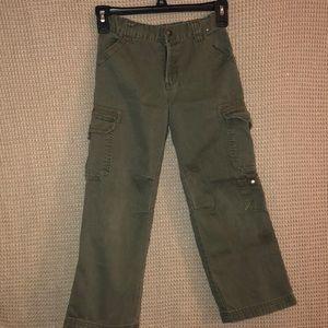 OLIVE CARPENTER PANTS